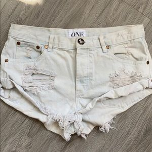 One Teaspoon X Free People Bandits shorts